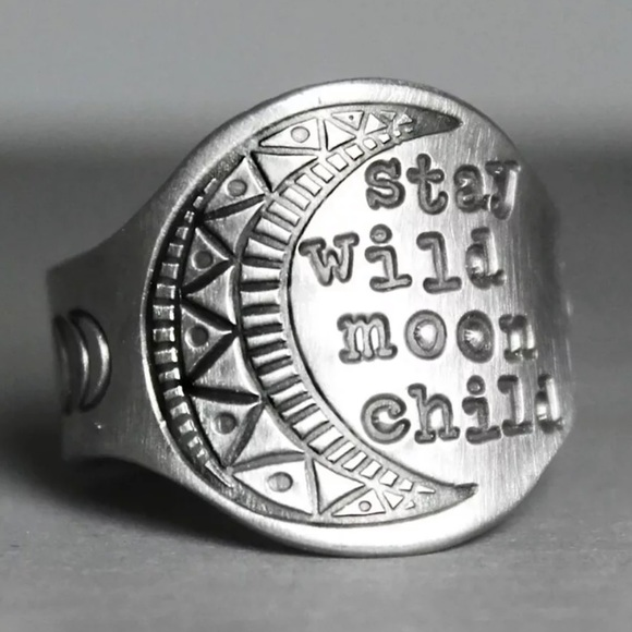 Jewelry - 🌜 Stay Wild Moon Child BOHO Silver Ring 🌛